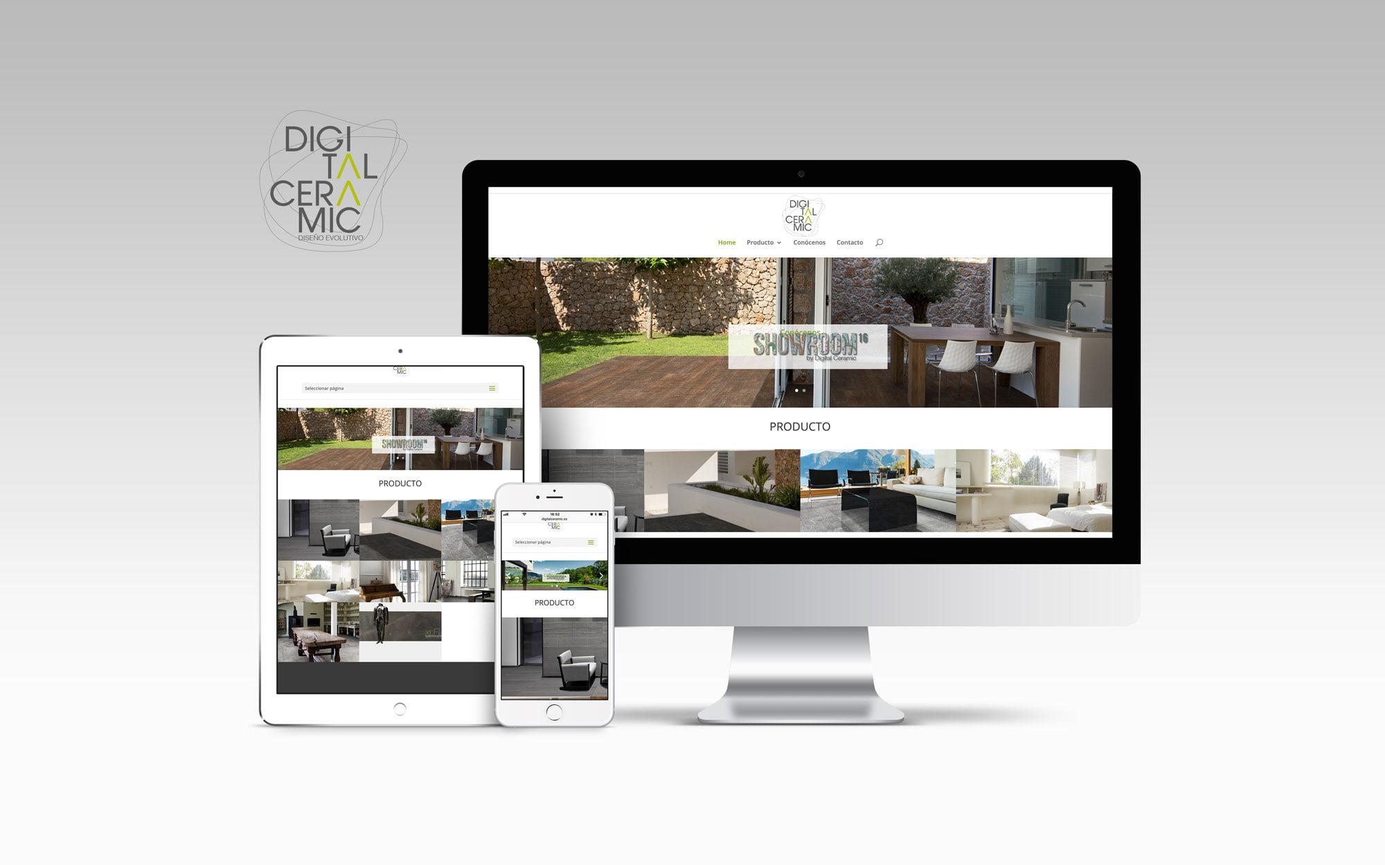 Rediseño web de Digital Ceramic, diseño web