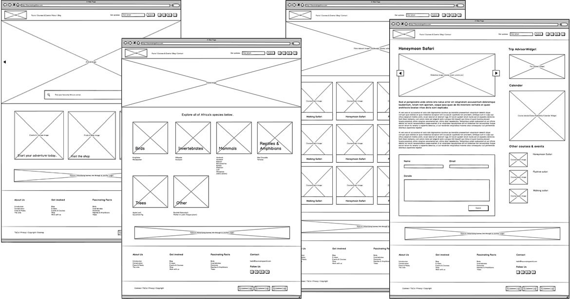 ui diseño web interfaz interfaces wireframes
