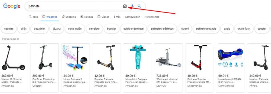 busqueda inversa con Google Imagenes