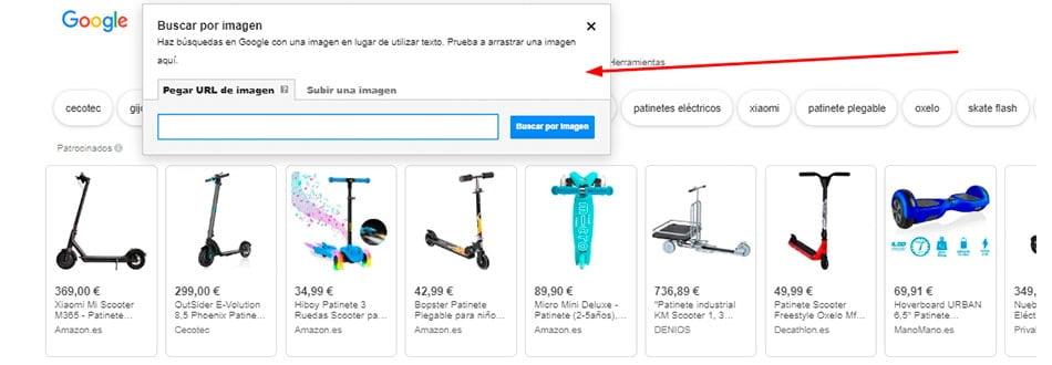 como realizar busqueda por imagen con Google Imagenes