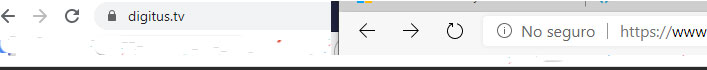 navegador seguro vs no seguro