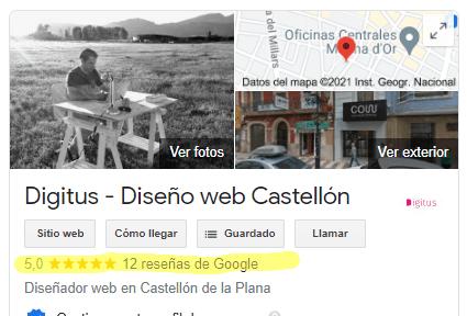 reseñas diseño web castellon