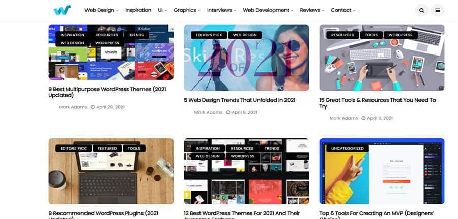Web Design Ledger blog de diseño web