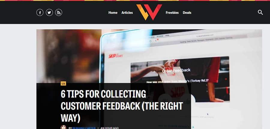 Web Designer Depot blog de diseño web